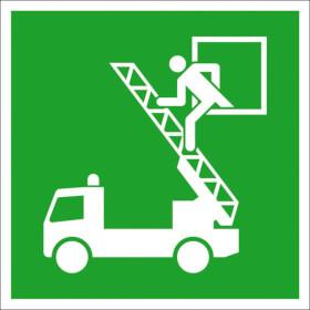 Fluchtwegschild - langnachleuchtend Rettungsausstieg (Rettungsfenster)