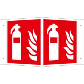 Brandschutzschild - Winkel - langnachleuchtend Feuerlöscher