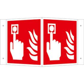 Brandschutzschild - Winkel - langnachleuchtend Brandmelder