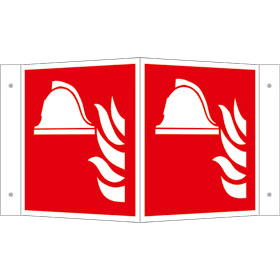 Brandschutzschild - Winkel - langnachleuchtend Mittel und Geräte zur Brandbekämpfung