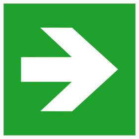 Fluchtweg/Erste Hilfe- Zusatzschild - langnachleuchtend Richtungsangabe gerade