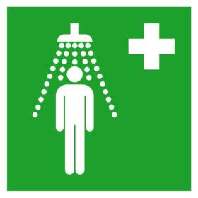 Erste-Hilfe-Schild Notdusche