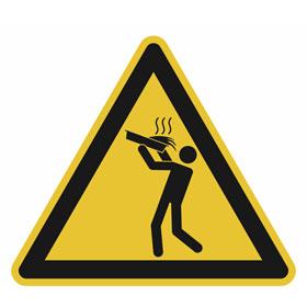 Warnschild Warnung vor Verbrühung