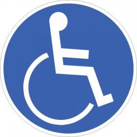 Gebotsschild Für Rollstuhlbenutzer