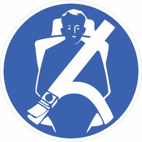 Gebotsschild Sicherheitsgurt anlegen