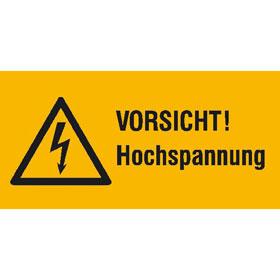 Warn-Kombischild Vorsicht Hochspannung