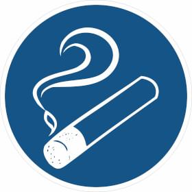 Gebotsschild Rauchen gestattet