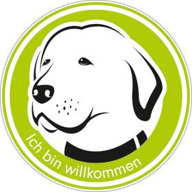 Hinweisschild - Gewerbe und Privat Hunde willkommen