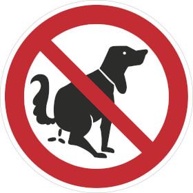 Verbotsschild Hier kein Hundeklo