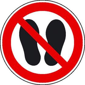 Verbotsschild Betreten der Fl�che verboten