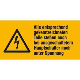 Warn-Kombischild Alle entsprechend gekennzeichneten Teile stehen