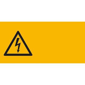 Warn-Kombischild auf Bogen Warnung vor gefährlicher elektrischer Spannung