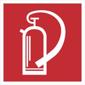 Brandschutzschild - langnachleuchtend Feuerlöscher