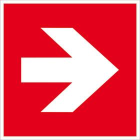 Brandschutz-Zusatzschild - langnachleuchtend Richtungsangabe rechts/links
