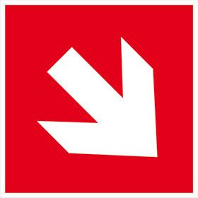 Brandschutz-Zusatzschild - langnachleuchtend Richtungsangabe aufwärts / abwärts