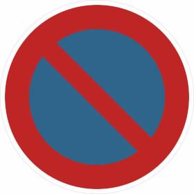 Verkehrsschild - Betriebskennzeichnung Eingeschränktes Haltverbot