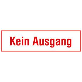 Hinweisschild - Betriebskennzeichnung Kein Ausgang