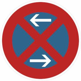Verkehrsschild - Betriebskennzeichnung Eingeschränktes Haltverbot links / rechts