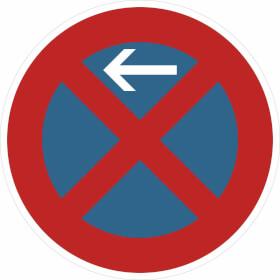 Verkehrsschild - Betriebskennzeichnung Absolutes Haltverbot links / rechts