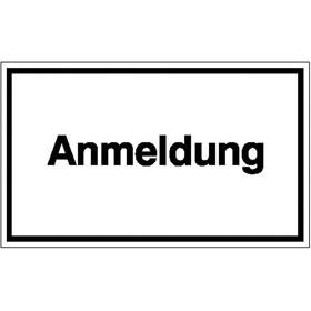Hinweisschild - Betriebskennzeichnung Anmeldung