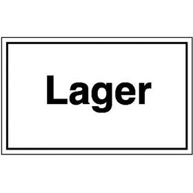 Hinweisschild - Betriebskennzeichnung Lager