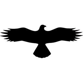 Aufkleber zum Vogelschutz Symbol - Bussard -