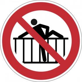 Verbotsschild Barriere nicht übersteigen