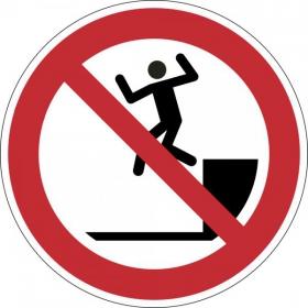 Verbotsschild Herunterspringen verboten