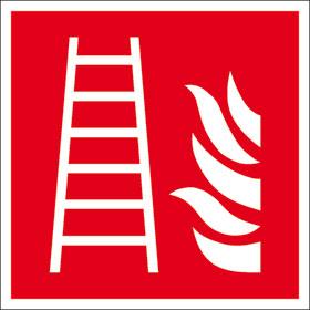 Brandschutzschild - langnachleuchtend Feuerleiter