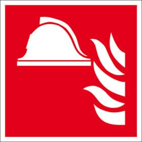 Brandschutzschild - langnachleuchtend Mittel und Geräte zur Brandbekämpfung