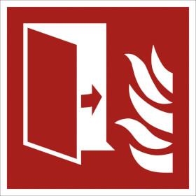 Brandschutzschild - langnachleuchtend Brandschutztür