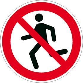 Verbotsschild Laufen verboten