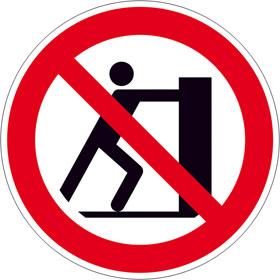 Verbotsschild Schieben verboten