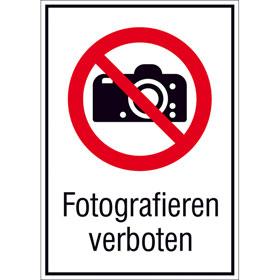 Verbots-Kombischild Fotografieren verboten