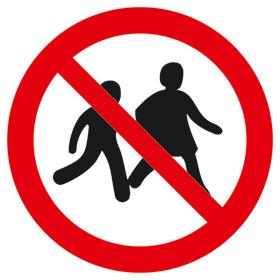 Verbotsschild Kinder verboten