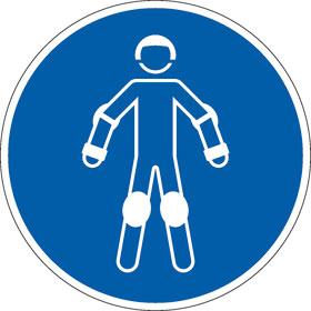 Gebotsschild Schutzausrüstung für Rollsport benutzen