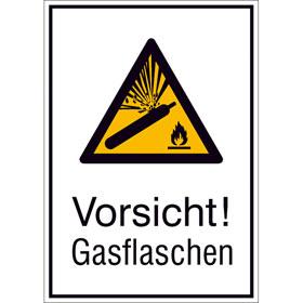 Warn-Kombischild Vorsicht! Gasflaschen