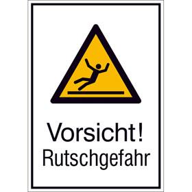 Warn-Kombischild Vorsicht! Rutschgefahr