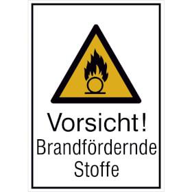 Warn-Kombischild Vorsicht! Brandfördernde Stoffe