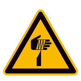 Warnschild Warnung vor spitzem Gegenstand