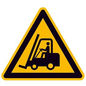 Warnschild Warnung vor Flurförderzeugen