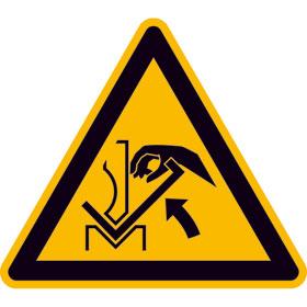 Warnschild Warnung vor Quetschgefahr der Hand