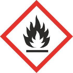 GHS - Gefahrensymbol 02 Flamme Gefahrstoffetikett Folie selbstklebend