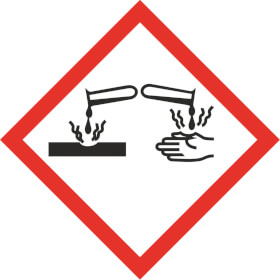 GHS - Gefahrensymbol 05 Ätzwirkung Gefahrstoffetikett Folie selbstklebend