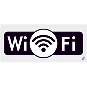 Hinweisschild - Gewerbe und Privat WiFi