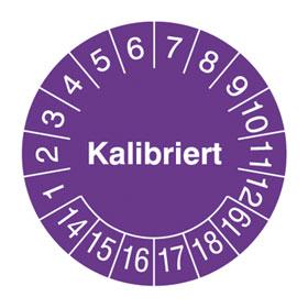 Pr�fplaketten - Kalibriert in Jahresfarbe