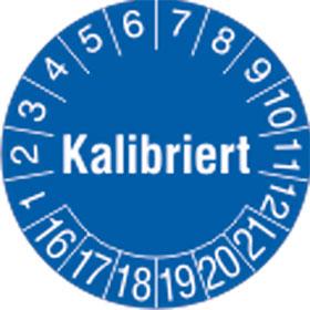 Pr�fplakette Kalibriert