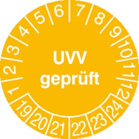 Prüfplakette UVV geprüft
