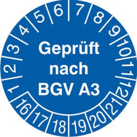Pr�fplakette Gepr�ft nach BGV A3