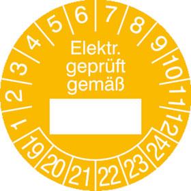 Prüfplakette Elektr. geprüft gemäß